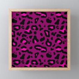 Deep Pink Leo Print Framed Mini Art Print