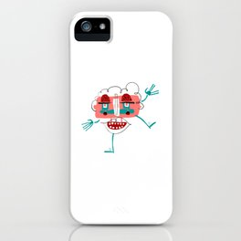 Monster face iPhone Case