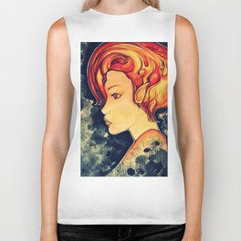 Flame Princess. Biker Tank