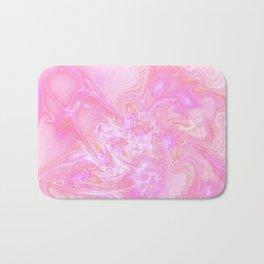 Neon Pink Fantasy Marble Bath Mat