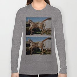 Horse & Plough by Shimon Drory Long Sleeve T-shirt