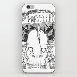 Fire Coming Out of the Monkey's Head iPhone Skin