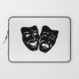 Theater Masks of Comedy and Tragedy Laptop Sleeve
