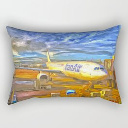 Iran Air Airbus A330 Pop Art Rectangular Pillow