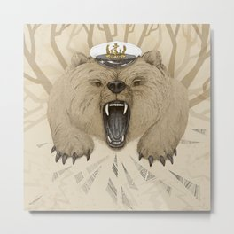 Roar of the Bear Metal Print