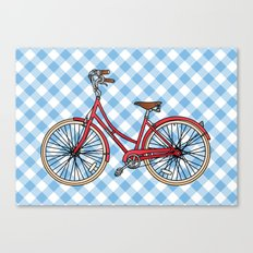 His Bicycle Canvas Print