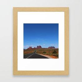 Traveling On Highway 163 Framed Art Print