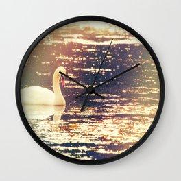 Dreamy Swan Wall Clock