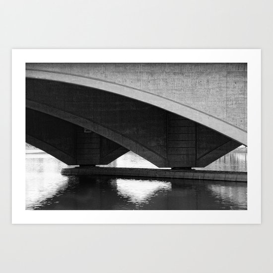 Arches on Broad street bridge Art Print