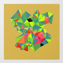 green blue polygon Canvas Print