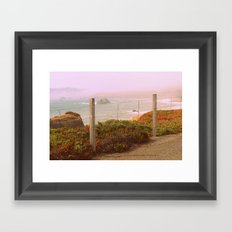 California Coast. Framed Art Print