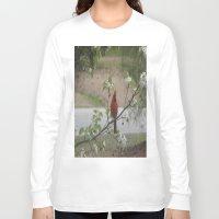 cardinal Long Sleeve T-shirts featuring Cardinal  by Earth'sAnimalActivist23