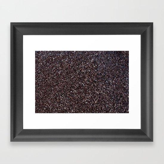Black Sand IV (Red) Framed Art Print
