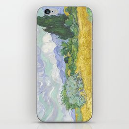 A Wheatfield with Cypresses by Vincent van Gogh iPhone Skin