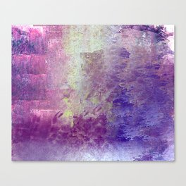 Abstract in Purples and Green Canvas Print