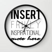 sarcasm Wall Clocks featuring Sarcasm by Pink Fox Designs