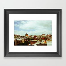 Harlem Skyline Framed Art Print