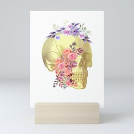 Floral Skull Anatomy  Mini Art Print