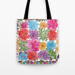 1960s Garden by Offhand Designs Tote Bag