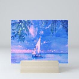 Tropical yachting Mini Art Print