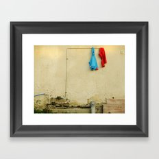 They woke up and one of them was smiling Framed Art Print