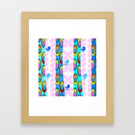 Birds and colorful trees Framed Art Print