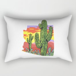 Arizona Saguaro Sunset Rectangular Pillow
