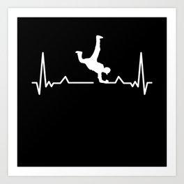 Breakdancing Heartbeat Gift Break Dancer Art Print