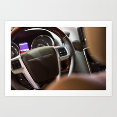 Chrysler Town & Country Limited Steering Wheel and Panel Art Print