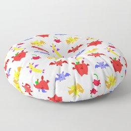 Fruit Bats Pattern Floor Pillow