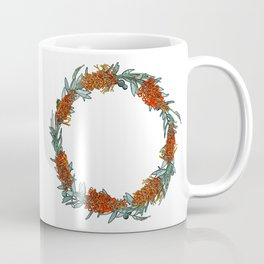 Australian Native Flower Wreath Coffee Mug