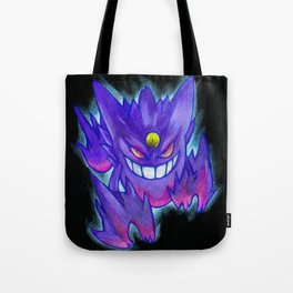 Mega Gengar colored pencil drawing Tote Bag