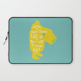 Sometimes the Smallest things - Winnie the Pooh inspired Print Laptop Sleeve