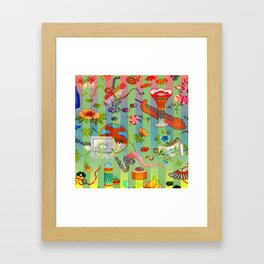 Chinese Green Chinois Framed Art Print