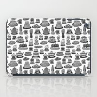 macaroon iPad Cases featuring Vintage Tea Party Pattern by Stacey Muir