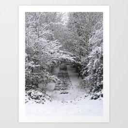 Snow Steps Art Print