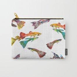 Tropical Colors, Guppy Aquarium Fish , Aquarium Art Underwater Carry-All Pouch