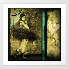She Does Not Wait For June - victorian melancholy art print  Art Print