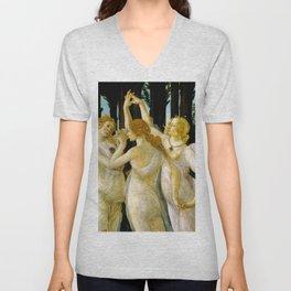 "Sandro Botticelli ""Spring"" The Three Graces (2) Unisex V-Neck"