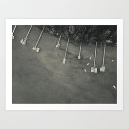 Dock From Above Art Print