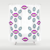 mouth Shower Curtains featuring Marquise Mouth by Libby Alexander