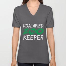 Koalafied Zookeeper | Zoo Keeper Koala Koalas Unisex V-Neck
