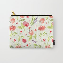 Watercolor Rose Garden Carry-All Pouch