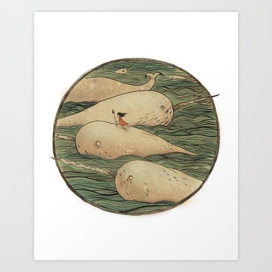 Narwhals Art Print