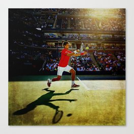 Novak Djokovic Tennis Canvas Print