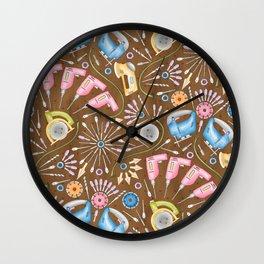 Flower Power Tools Wall Clock