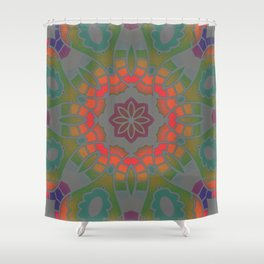 Fun with Coloring Infared Style 2 Shower Curtain