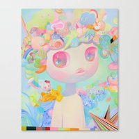 sunshine Canvas Prints featuring Sunshine by So Youn Lee