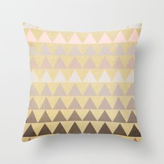 Muted Triangles Throw Pillow