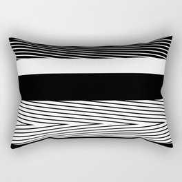 Black and white abstract striped pattern Rectangular Pillow